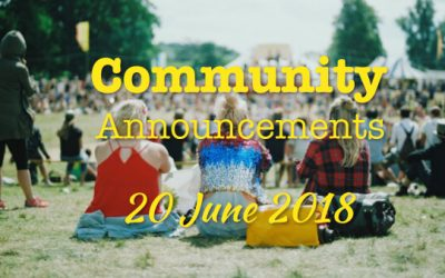 Community Announcements 20 June 2018